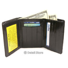 New Genuine EEL SKIN Leather MEN Large Trifold Wallet Bill/ID/Credit Card/Window