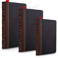 MAGNETIC LEATHER RETRO VINTAGE BOOK CASE COVER FOR APPLE IPAD 2 3 4 5 AIR / MINI