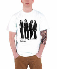 The Beatles logo Iconic Image Official Mens New White T Shirt All Sizes