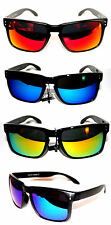 Holbrook Sunglasses Super Flat Top Matte Black red blue green gold red mirror