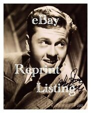 MICKEY ROONEY REPRINT SIGNED PHOTOGRAPH ANDY HARDY PETE'S DRAGON