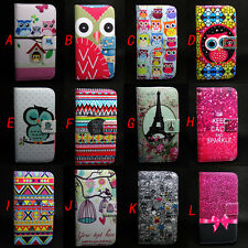 Owl Design Wallet Leather Skin Flip + TPU Skin Case Cover For Apple iPhone 5 5S