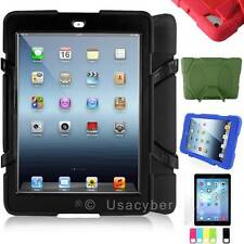 WaterProof ShockProof Armor Military Hard Case Cover For Apple iPad 2 3 4 New #X