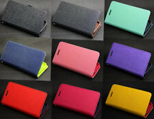 Deluxe Wallet Leather Flip + Tpu Case Cover For Samsung Galaxy Core i8260 i8262