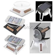 Solar Powered Jewelry Watch Phone Rotating Rotary Display Stand Turn Table Plate