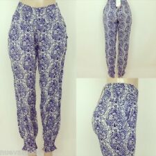 High Waist Harlem Joggers in Fine China Paisley Print Sizes S-M-L