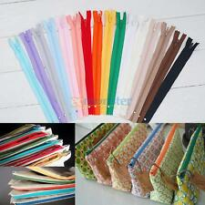 "10Pcs 9"" 20cm Lots Color Nylon Zippers Coil Grab Bag Tailor Sewing Craft Tools"