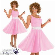 LADIES ADULT 80S BABY DANCER FANCY DRESS COSTUME 50S DIRTY DANCING WITH FREE WIG