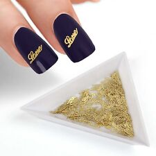 BMC 120pc Gold Colored Flexible Metal Nail Polish Art Confetti - 20 Design Sets