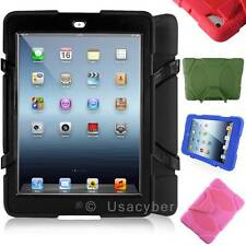 WaterProof ShockProof Armor Military Case Cover For Apple iPad 2 3 4 Air Mini #X