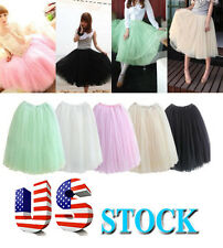 2014Sweet women pretty wPrincess Fairy Style Tulle Dress Bouffant Skirt in US