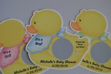 UNIQUE PERSONALIZED RUBBER DUCK THEME BABY SHOWER SCRATCH OFF LOTTO GAME CARDS