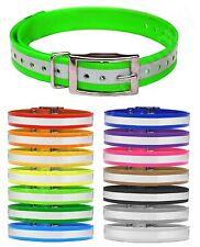 "Reflective Replacement Dog Collar Straps 3/4"" wide Sportdog Dogtra Petsafe Delta"