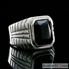 Men's Rocker Cowboy Biker Cool Bling 316L Stainless Steel Gem Ring R5V59A