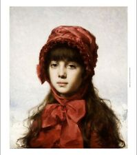 "ALEXEI ALEXEIEWITSCH HARLAMOFF ""Red Bonnet"" ON CANVAS various SIZES, BRAND NEW"