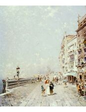 "FRANZ RICHARD UNTERBERGER ""Molo, Venice"" PRINT new choose your SIZE, 55cm up"