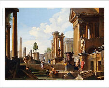 GIOVANNI PAOLO PANNINI Classical Ruins CANVAS Pantheon various SIZES, BRAND NEW