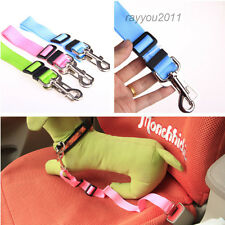 Adjustable Nylon Dog Pet Safety Car Vehicle Seat Belt Harness Lead Clip 7 Colors