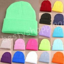 Winter Unisex Fashion Candy Color Hip-hop Ski Skull Cap Knit Hat Crochet Beanies