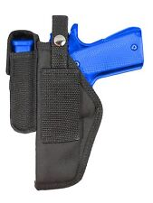 New Barsony Belt Loop Holster Mag Pouch Walther Steyr Full Size 9mm 40 45 Pistol