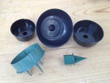 Domed candle cups and candle holders, black or green, selection of sizes NEW