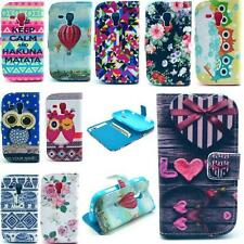 Wallet Leather Pattern Phone Case Cover Stand For Samsung Galaxy S Duos GT-S7562