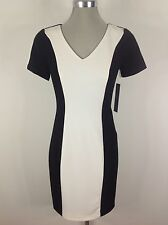 Marc New York Andrew Marc NWT White & Black Color Block, Bodycon Slimming Design