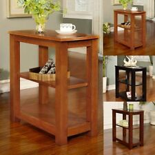 Modern Clean Lines 2 Shelf Rectangular Chair Side Snack Accent End Table Option