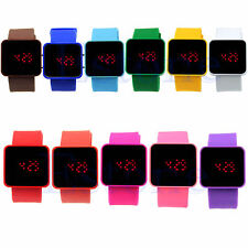 Colorful Unisex LED Digital Touch Screen Silicone Date Time Sport Wrist Watch
