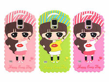 New Cute Hat Girl Soft Silicone Back Case Cover Skin for Samsung Galaxy S5 i9600