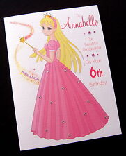 Personalised 'Princess' Birthday Card DAUGHTER GRANDDAUGHTER SISTER NIECE