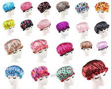 1x Home Printed Double-deck Waterproof Shower Cap Bathing Cap Shower Hat Various