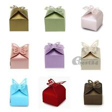 12x Paper Candy Gift Box Laser Cut Wedding Party Favor Butterfly