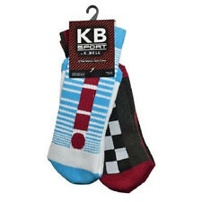 K. Bell Men's Exclamation Tech Crew 2 Pair Pack 1/2 Cushion One Size 68355M-2PK