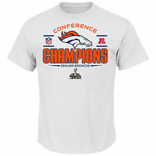 Nike DENVER BRONCOS 2014 Conference Champions Super Bowl XVIII Tee Shirt White