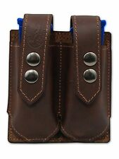 NEW Barsony Brown Leather Double Mag Pouch Sig Walther Makarov 380 Ultra Compact