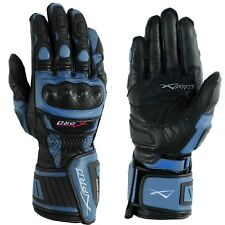 Protective Racing Cruiser Motorcycle Apparel Quality Gloves A-PRO Blue