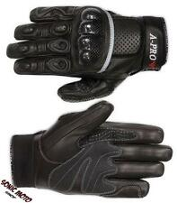 Protective lined Motorcycle Biker Leather Sport Gloves Racing Quality Black