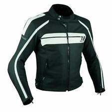Quality Biker Motorcycle CE Armours Leather Touring Racing Jacket White