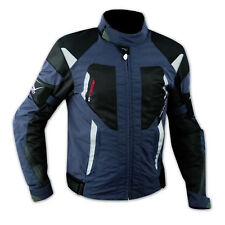 Mesh Biker Motorcycle Waterproof Liner Armours Textile Touring Jacket Blue