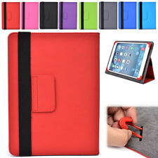 "NEW Unisex Folding Stand Adjustable PVC Leather Folio Case fits 8.9"" Tablets"