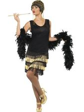1920's Charleston Fringed 20s Flapper Ladies Fancy Dress Costume Party Outfit