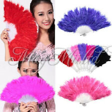 Soft Fluffy Lady Burlesque Wedding Hand Fancy Dress Costume Dance Feather Fan G