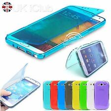 FLIP TPU SOFT SILICON GEL CASE COVER FOR SAMSUNG GALAXY S2 S3 S4 & MINI & NOTE 3