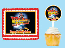 BACK TO THE FUTURE Edible Cake Topper Cupcake Image Decoration Birthday