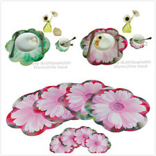 set of 8pc Vintage Placemats Kitchen Pad Dining Table Mats + Coasters Sets