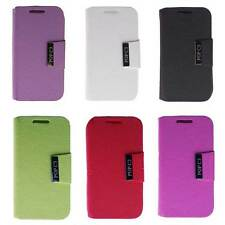 Coque Etui housse portefeuille rabat clapet Alcatel One Touch Pop C3 simili cuir
