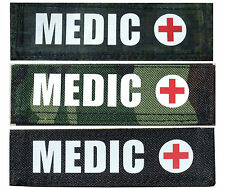 MEDIC SNIPER Velcro Name Tag Tape Military Paintball Airsoft Tactical Police
