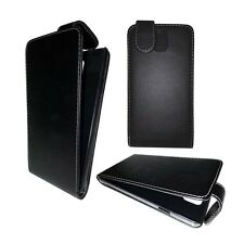 PLAIN BLACK FLIP CASE COVER FOR SAMSUNG GALAXY NOTE 3 GT-N9000
