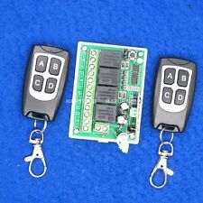 4CH Receiver 200M Wireless Remote Control Switch 4 Relays Transceiver led lamp